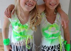 Shirt pimpen- workshop voor kinderen-gemaakt door de kinderen (9 jaar) bij de Knutselkantine.nl: frisse creatieve workshops