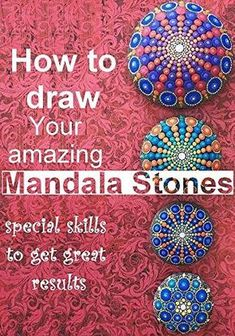 Decorative Rocks Ideas : Description Mandala Stones Etsy is what you need to search to buy but if you want to make your own, you will love our Mandala Rocks Tutorial. Learn the tips and tricks. Rock Painting Patterns, Dot Art Painting, Rock Painting Designs, Pebble Painting, Pebble Art, Stone Painting, Dot Painting On Rocks, Mandala Painted Rocks, Mandala Rocks