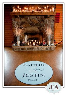 Fireplace mantle candles ~there is a fireplace at the Monte Cristo where we are getting married. Hmmm...~
