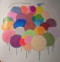 Animal Kingdom Millie Marotta Colouring Book Adult Tree Birds