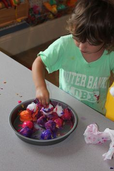 Play At Home Mom LLC: Clay and Crafts...cotton balls, finger paint, flour, water and bake