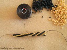 Twisted Tubular Herringbone Rope Tute. Needs translation.  Good pictures.  #Seed #Bead #Tutorials