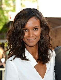 Liya Kebede at the 2014 CFDA Fashion Awards. Makeup by Mayia Alleaume.
