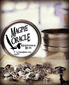 Magpie Oracle II: The Keepsake Box - CarrieParis.comCarrieParis.com Love Oracle, Practical Magic, Magpie, Keepsake Boxes, Runes, Witches, Tarot, Astrology, Spirituality