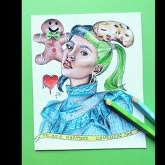 Melanie Martinez, Cry Baby, Gingerbread Man, Princess Zelda, Drawings, Fictional Characters, Things To Sell, Sketches, Drawing