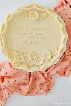 Pie, Pie Decorating Ideas, Mr. Darcy Quotes, Pride and Prejudice, Romantic QuotesPie, Pie Decorating Ideas, Mr. Darcy Quotes, Pride and Prejudice, Romantic Quotes Pie Crust Designs, High Altitude Baking, Pie Decoration, Pies Art, Perfect Pie Crust, Pie Pie, Fruit Pie, Butter Pie, No Bake Pies