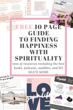 Learn about the best books, audibles, and podcasts to start your spiritual journey! Also packed with tips and info on crystals and smudging. Includes goal and intention setting worksheets. http://gabbykenna.com