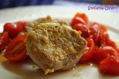 Medaglioni di filetto di maiale con pomodorini