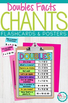 Doubles Facts - Rhymes & Chants with Flashcards & Posters