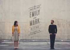 Cute save the date idea. Also loving the idea of separated physically but together otherwise. Email Design Inspiration, Typography Inspiration, Work Inspiration, Save The Date Invitations, Save The Date Postcards, Wedding Invitations, Invitation Ideas, Pregnant Couple, Let's Get Married