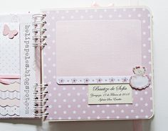 Heli Papeles ♥ Baby Scrapbook, Scrapbook Albums, Scrapbooking, Mini Albums, Decoupage, Notebook, Paper Craft, Stationery, Advertising