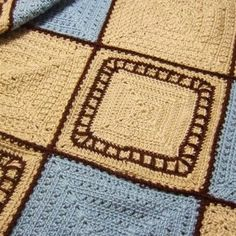 Train Tracks Baby Blanket - This pattern is available as a free download (PDF Format)