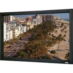 "Da-Lite Cinema Contour Fixed Frame Projection Screen Viewing Area: 40.5"" H x 95"" W"