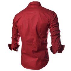 casual men shirts long sleeve camisa masculina camisetas social roupas  blusas slim fit casual-shirts e46148a0128