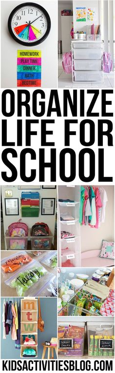 Here are some tips on how to organize life for school if you have kids in preschool and kindergarten Back To School Organization, Life Organization, Organizing School, Organizing Ideas, Kids Clothes Organization, Weekly Clothes Organizer, Closet Organisation, Organize Life, Beginning Of Kindergarten