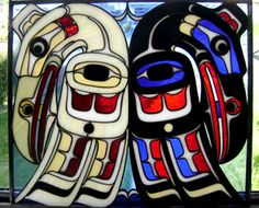 Harold Alfred is a Native American artist in Victoria, B. - This is Raven - stained glass Totem Art American Art, Raven Art, Tribal Art, Indian Art, Art Stained, American Indian Art, Art, American Indian Artwork, Pacific Northwest Art