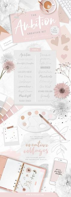 Font Bundle + Collag