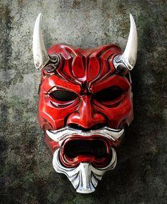 Uncle Oni Mask 318 Japanese Noh Style Fiberglass by TheDarkMask