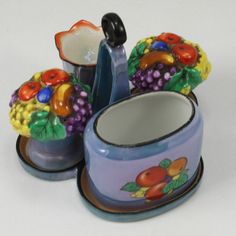 Vintage Japanese Lusterware Two Piece Juicer In A