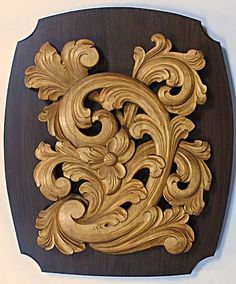 Norsk Wood Works -- Acanthus plaque