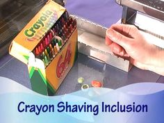 Shavings From Crayola Crayons Can be Mixed Into Polymer Clay For A Very Cool Effect
