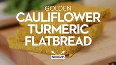 Golden Cauliflower Turmeric Flatbread. Get the recipe here: http://paleo.co/flatbreadrcp
