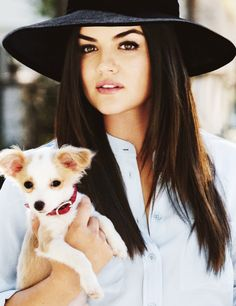 Lucy Hale, love her hat!