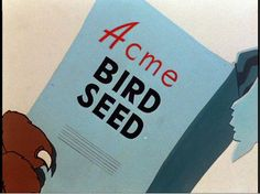 Acme bird seed by Dystopos, via Flickr