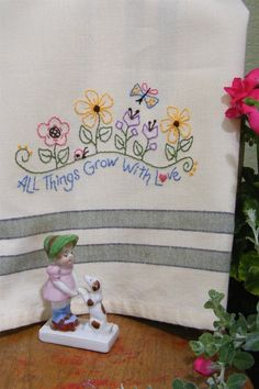 Picture of Freebie - All Things Grow With Love Tea Towel