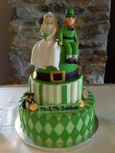 Saint Patrick's day wedding cake