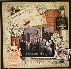 We love Downton Abbey and this LO by @Nancy Wethington! She used our Olde Curiosity Shoppe Collection #graphic45 #layouts