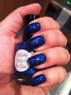 i love the color blue.  I wouldn't put this on my nails, but toes?  cute
