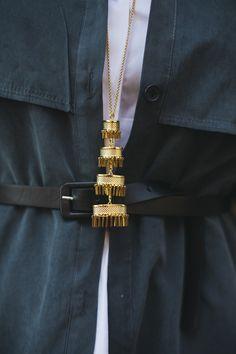 Lele Sadoughi Pagoda Pendant Necklace