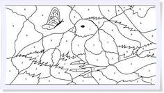 Malen-nach-Zahlen für die ganz Kleinen. Die kostenlosen Vorlagen für kleine Künstler findet Ihr auf unserem Blog. #Ostern #diy #ausmalen