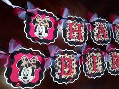 minnie mouse party supplies red and black | Minnie Mouse Party Decorations Leopard print/Red or Pink/black, Minnie ...