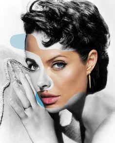 Elizabeth Taylor/Angelina Jolie by George Chamoun