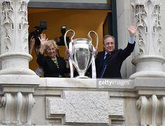 News Photo : Real Madrid President Florentino Perez and mayor...