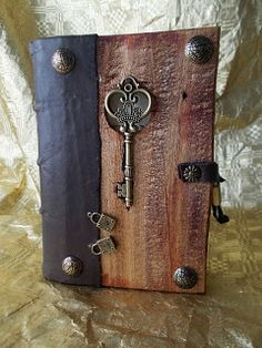 handmade medieval style wooden grimoire - Google Search