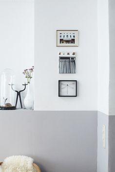 Leuk in de hal? Inspiratie voor de twijfelaars: tweekleurige muren - Roomed | roomed.nl