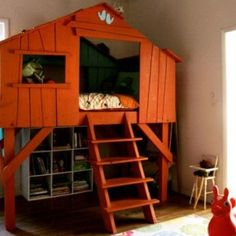 Small kids tree house bed magical room from getitcut.com