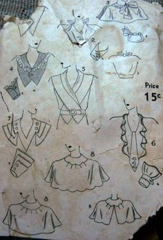 Simplicity 1175 | 1930s Collars, Cuffs, Vestees pattern
