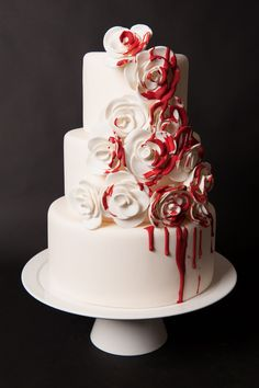 til death do us part miss ladybird cakes - Halloween Wedding Cakes Pictures