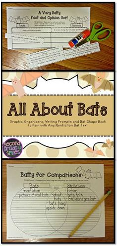 This All About Bats set is filled with graphic organizers and activities to get your students excited about learning about bats! Pair with informational texts and/or Stellaluna for a fantastic first grade or second grade lesson plan. $