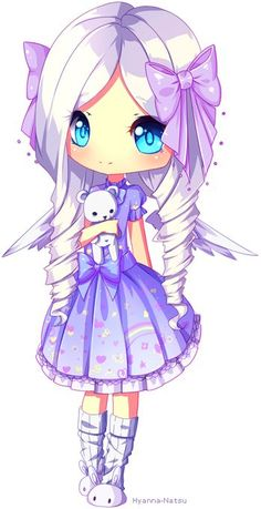 Commission chibi style 2 for *Lucinhae omg so many colors *u*~ was fun to draw! I hope you like it - - - Made in Paint Tool Sai Art (c) Hyanna-Natsu Character (c) *Lucinhae Kawaii 365, Kawaii Chibi, Cute Chibi, Kawaii Cute, Anime Chibi, Kawaii Drawings, Cute Drawings, Anime Kunst, Anime Art