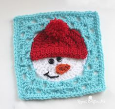 The first day of winter calls for something seasonal, something snowy… like a Crochet Snowman Square! The added embellishments make it a bit more work than your average granny square, but definitely worth it! It would be great paired with solid squares or snowflake squares. Or continue the border and make a large pillow cushion! You …