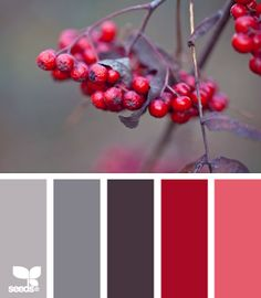 I know this one is called Autumn fruits but when I see these berries I think of winter and Christmas.  There is a GREAT example of how this colorscape was used to inspire a beautiful work of nail art!