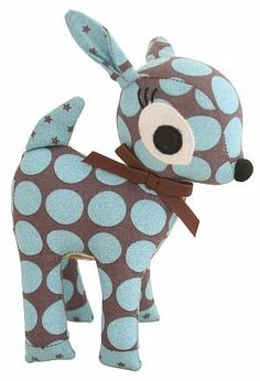 Alimrose Fawn Toy Rattle.