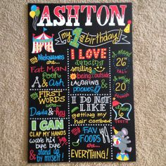 Hand Painted Carnival themed Birthday Board by BeYoutifulVAriety on Etsy