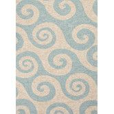 Found+it+at+Wayfair+-+Coastal+I-O+Blue/Ivory+Geometric+Indoor/Outdoor+Rug
