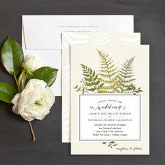 Fern Botanical Wedding Invitations by Emily Crawford   Elli